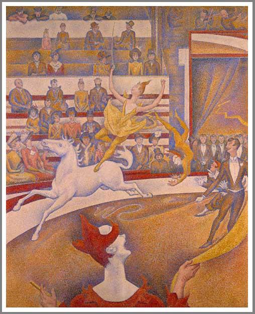 絵画(油絵複製画)制作 ジョルジュ・スーラ「サーカス」