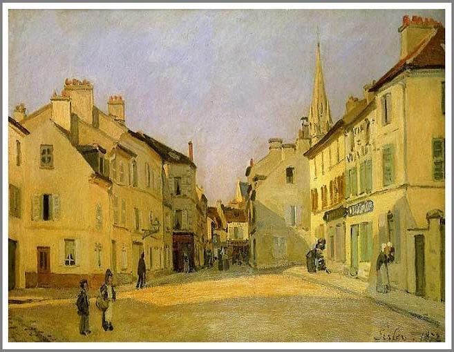 絵画(油絵複製画)制作 アルフレッド・シスレー「アルジャントゥイユの広場」