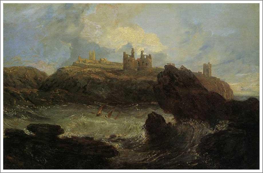 絵画(油絵複製画)制作 ウィリアム・ターナー「ダンスタンバラ城」