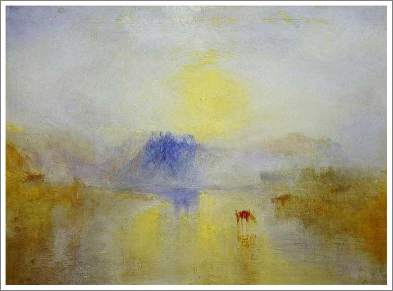 絵画(油絵複製画)制作 ウィリアム・ターナー「ノラム城、日の出」