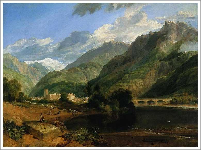 絵画(油絵複製画)制作 ウィリアム・ターナー「モンブランの見えるサヴォワ地方のボンヌヴィル」