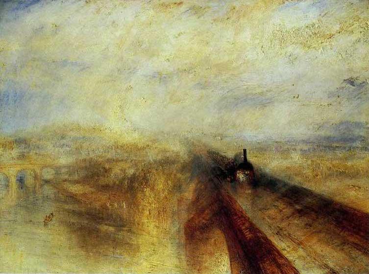 絵画(油絵複製画)制作 ウィリアム・ターナー「雨、蒸気、速度 グレート・ウェスタン鉄道」