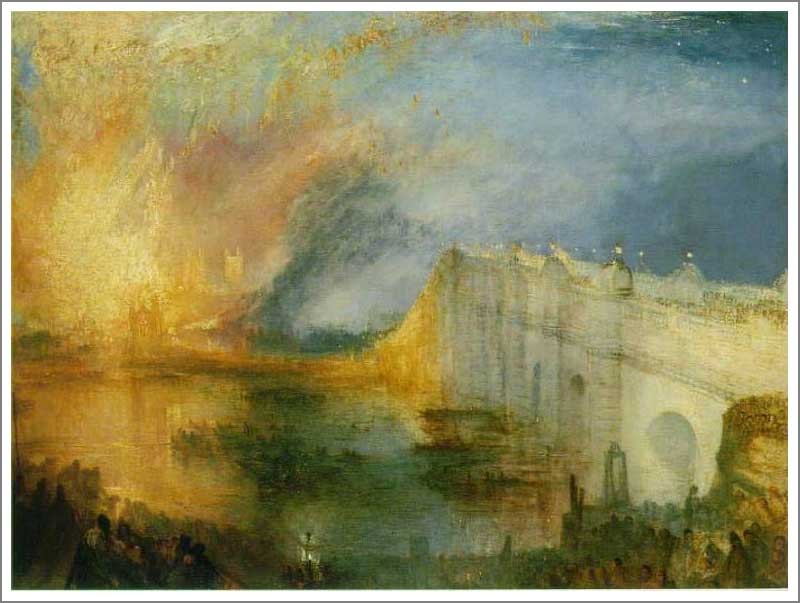 絵画(油絵複製画)制作 ウィリアム・ターナー「国会議事堂の火事 1834年10月16日」