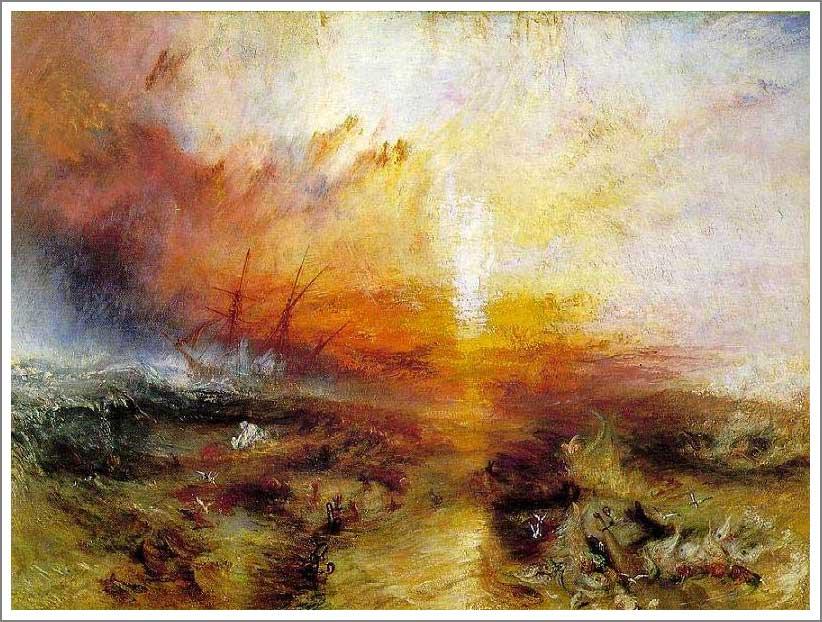 絵画(油絵複製画)制作 ウィリアム・ターナー「死人と死に瀕した人を船外に投げ込む奴隷船」