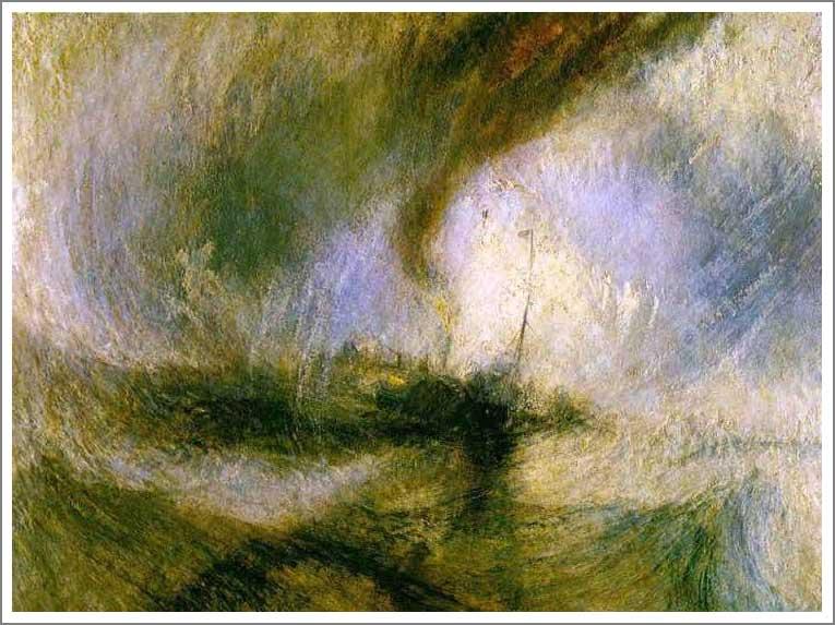 絵画(油絵複製画)制作 ウィリアム・ターナー「吹雪」