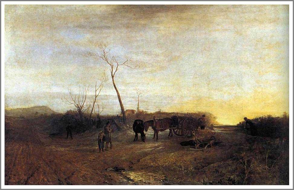 絵画(油絵複製画)制作 ウィリアム・ターナー「霜の降りた朝」