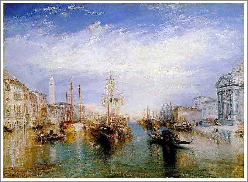 絵画(油絵複製画)制作 ウィリアム・ターナー「大運河、ヴェネチア」