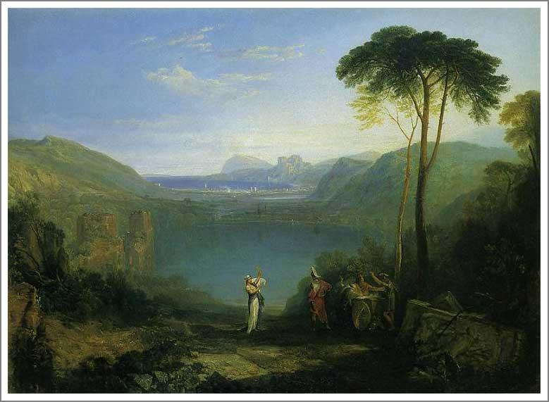 絵画(油絵複製画)制作 ウィリアム・ターナー「アヴェルヌス湖」