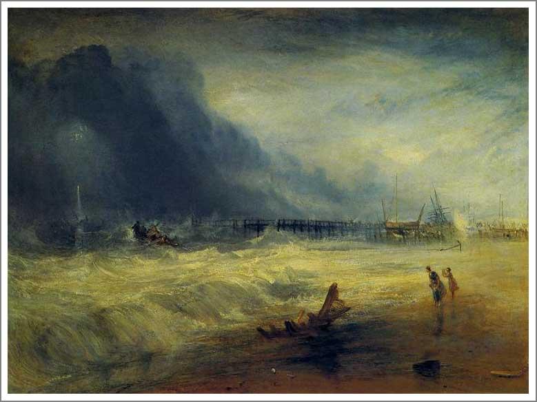 絵画(油絵複製画)制作 ウィリアム・ターナー「難破船に向かう救命ボートとマンビー装置」