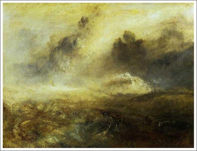 絵画(油絵複製画)制作 ウィリアム・ターナー「難破船のいる荒れた海」