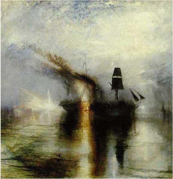 絵画(油絵複製画)制作 ウィリアム・ターナー「平和−水葬」