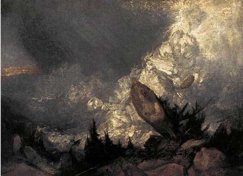 絵画(油絵複製画)制作 ウィリアム・ターナー「グリゾン地方の雪崩」