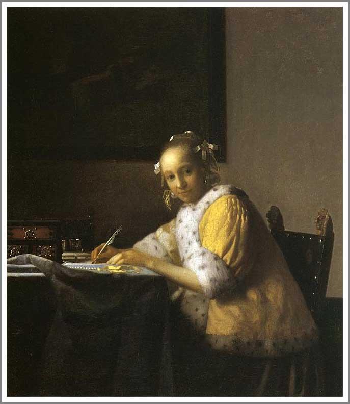 絵画(油絵複製画)制作 ヨハネス・フェルメール「手紙を書く女」