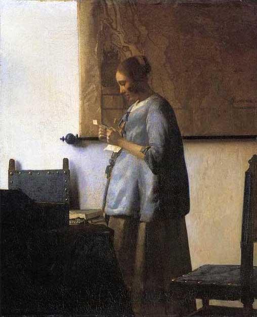 絵画(油絵複製画)制作 ヨハネス・フェルメール「手紙を読む青衣の女」