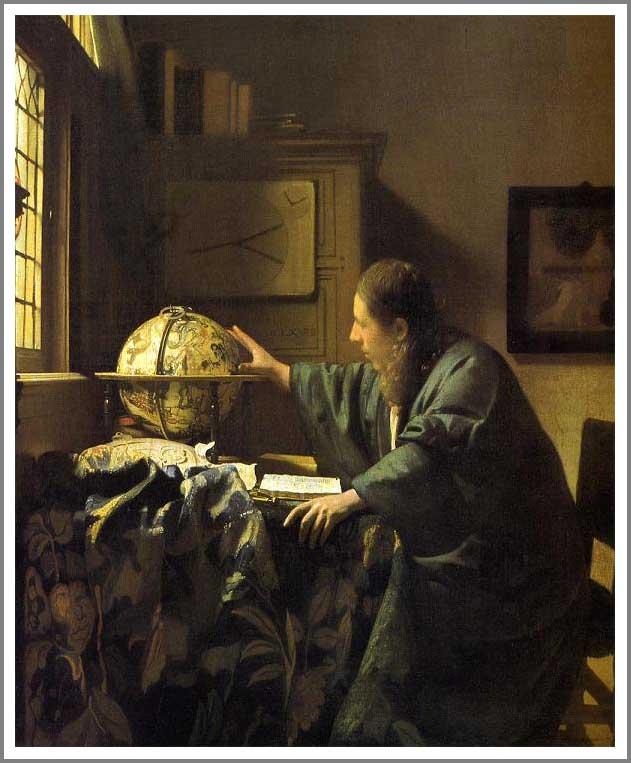 絵画(油絵複製画)制作 ヨハネス・フェルメール「天文学者」