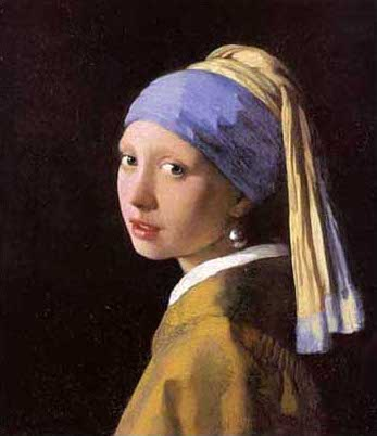 絵画(油絵複製画)制作 ヨハネス・フェルメール 「真珠の耳飾りの少女(青いターバンの少女)」