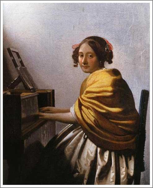 絵画(油絵複製画)制作 ヨハネス・フェルメール「ヴァージナルの前に座る若い女」