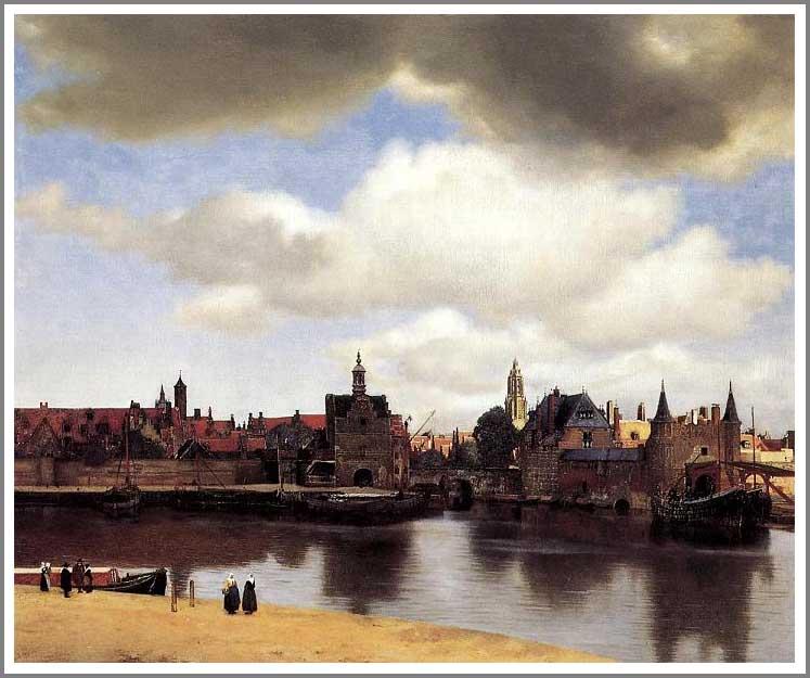 絵画(油絵複製画)制作 ヨハネス・フェルメール「デルフトの眺望」