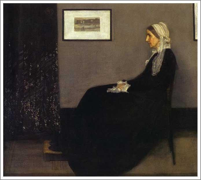 絵画(油絵複製画)制作 マクニール・ホイッスラー「灰色と黒のアレンジメント 第1番 画家の母の肖像」