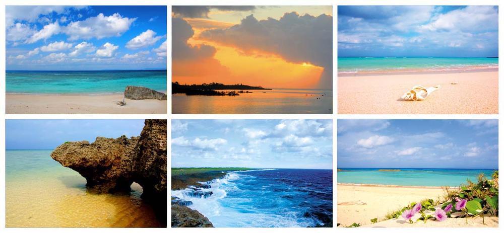 ポストカード沖縄の海お得な6枚セット【送料無料】