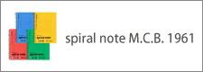 spiral note M.C.B. 1961