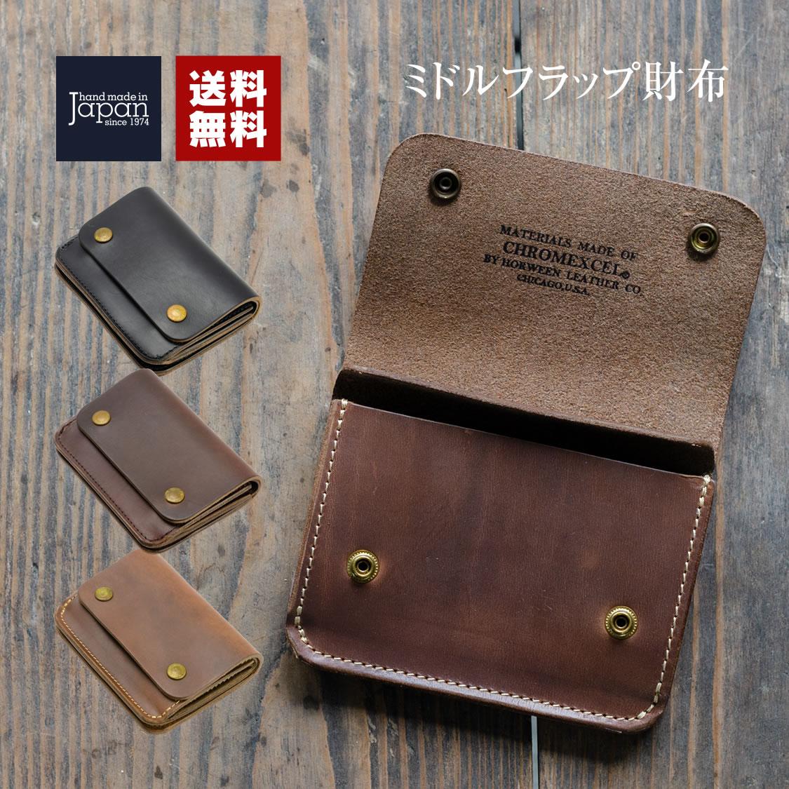 ミドルフラップ財布