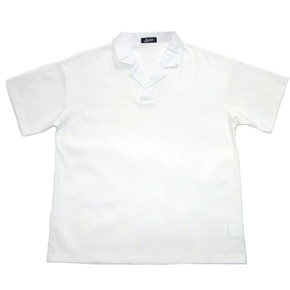 開襟ポロシャツ