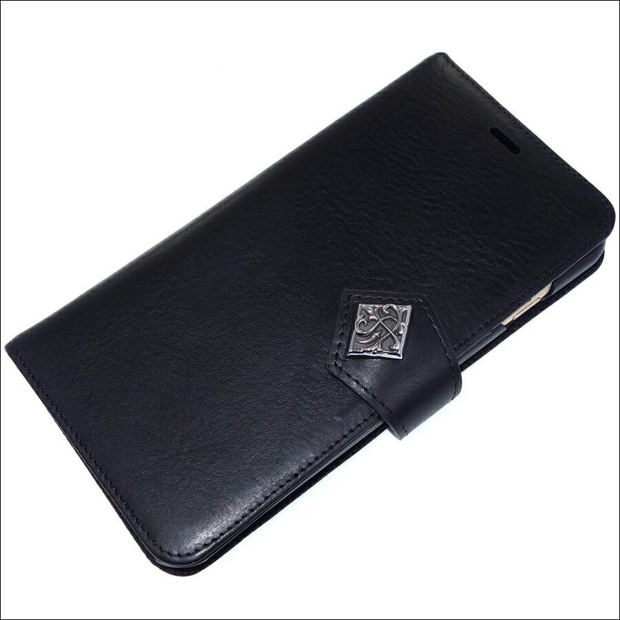 本革イタリアンレザー iPhone8Plus ブックケース