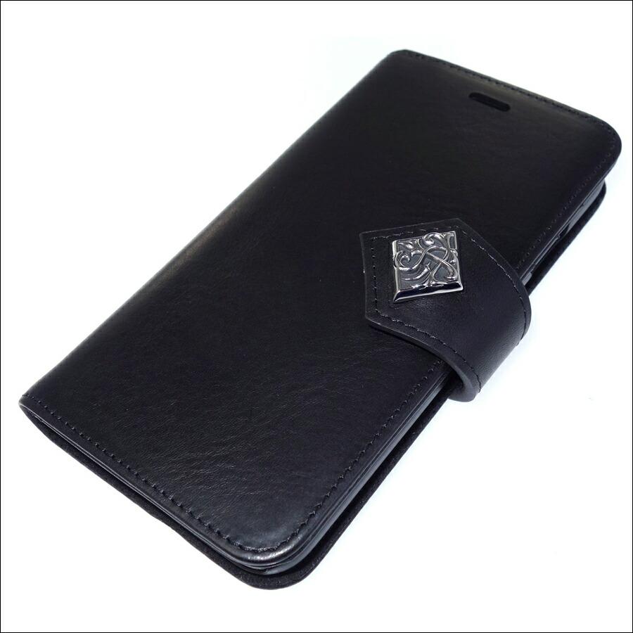 本革イタリアンレザー iPhoneX ブックケース