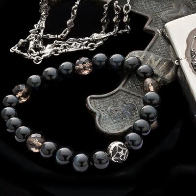 トレサリーブルータイガーアイ数珠ブレス