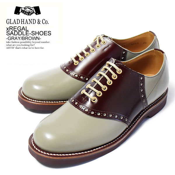 GLAD HAND×REGAL SADDLE-SHOES -GRAY/BROWN-