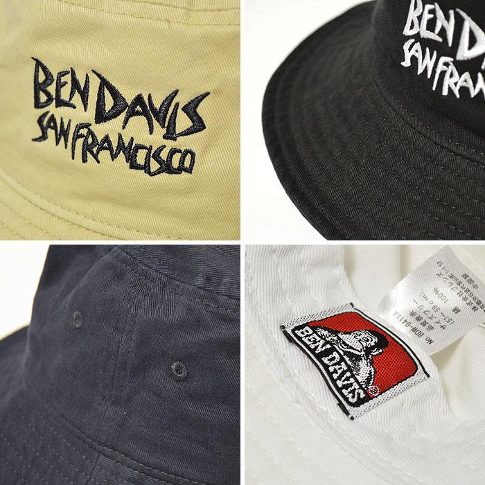 BEN DAVIS (ベンデイビス) BUCKET HAT EMBROIDERY  メンズ 帽子 ハット  BEN DAVIS ベンデイビス  a503b0549a77
