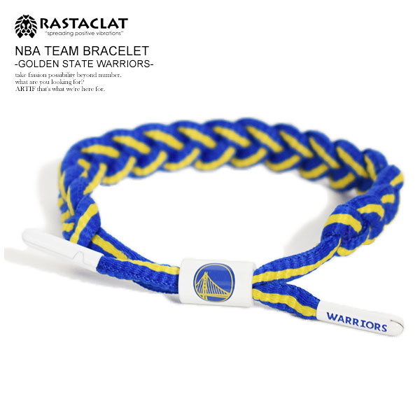 RASTACLAT NBA TEAM BRACELET -GOLDEN STATE WARRIORS-