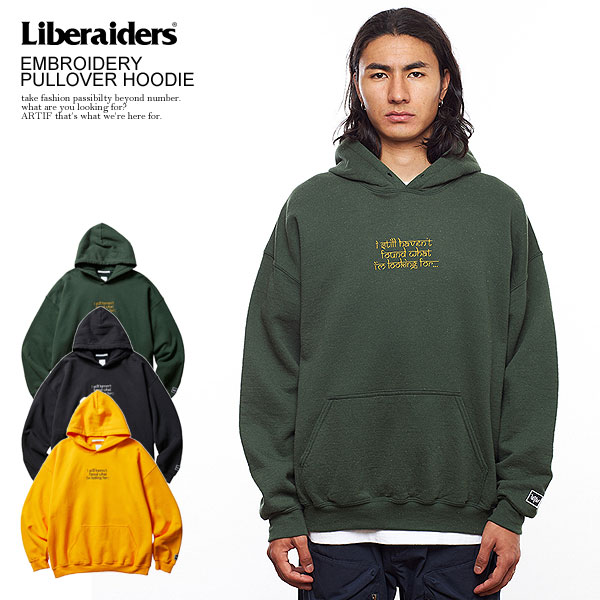 Liberaiders EMBROIDERY PULLOVER HOODIE