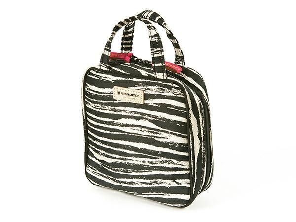 タテ型収納のスクエアポーチ<Zebra Chic(ゼブラ・シック)>