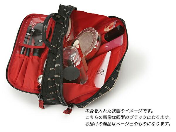 大きめサイズのスロープシェイプ・ポーチ<Valiant Rouge(ヴァリアント・ルージュ)>