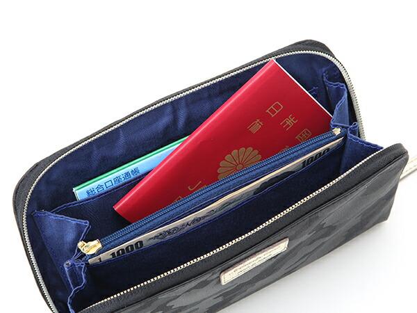 お財布を斜めがけして両手をもっと自由に<グレイス・カモフラージュ>