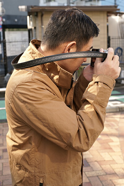カメラストラップ<カーボンファイバーストラップ 西陣織り>