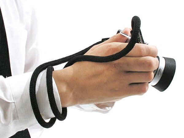 シルクの組紐(冠組)タイプシルクコードストラップ