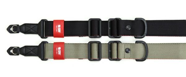 カメラストラップ 指一本で長さを調整・固定できる、幅広リングバージョン