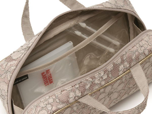 ブラシケース付きバッグ型ポーチ<Venetian Garden(ヴェネチアン・ガーデン)>