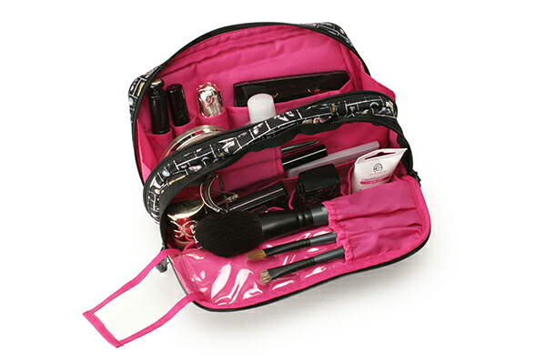 大きめサイズのスロープシェイプ・ポーチ<Like Barbie(ライク・バービー)>