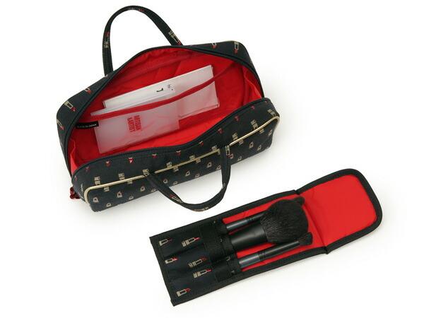 ブラシケース付きバッグ型ポーチ<Valiant Rouge(ヴァリアント・ルージュ)>