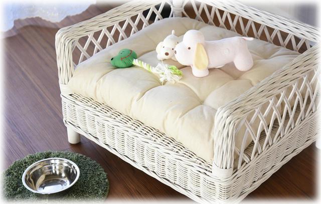 フレンチ アパルトメントのおやすみペットベッド WH