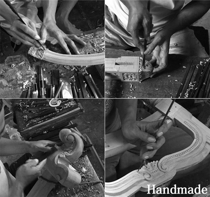 職人による手作業風景