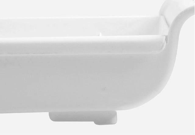 伸縮 水切りラック スリム  ホワイト グレー 横55cm〜75cm×高さ5cm  シンク  水切りかご モノトーン  【art of black】