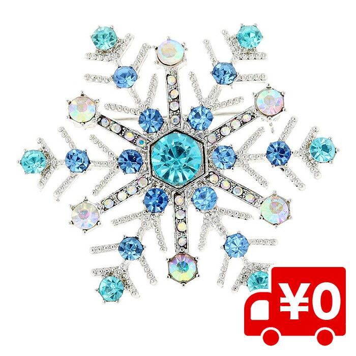 雪の結晶 ブローチピン