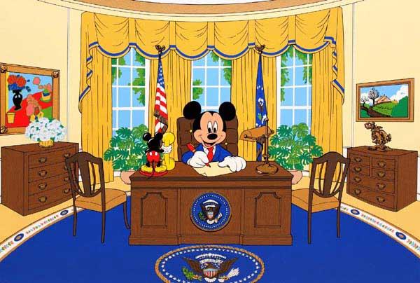 ディズニー/Sowa & Reiser「大統領ミッキーマウス/執務室」