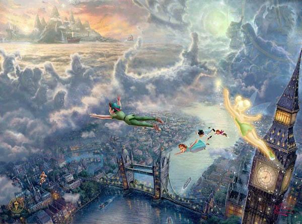 トーマス・キンケード「ティンカーベル&ピーターパン/ネバーランドを飛ぶ」