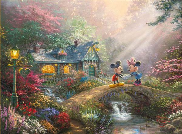 トーマス・キンケード「ミッキー&ミニー/スウィートハート・ブリッジ」